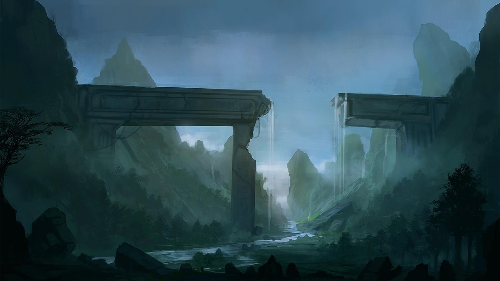 fantasy-aqueduct-ruins-valley